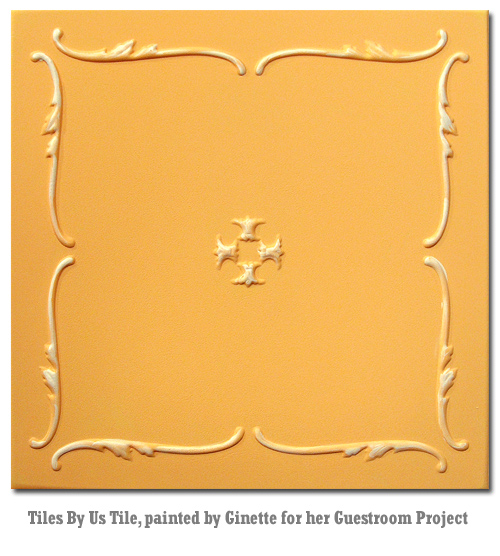 painting diy crafts on styrofoam ceiling tiles glue over popcorn, paint colors, painting, tiling, walls ceilings