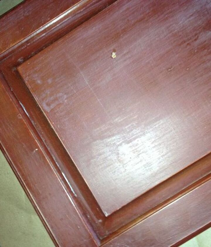 Sand down doors and drawers.
