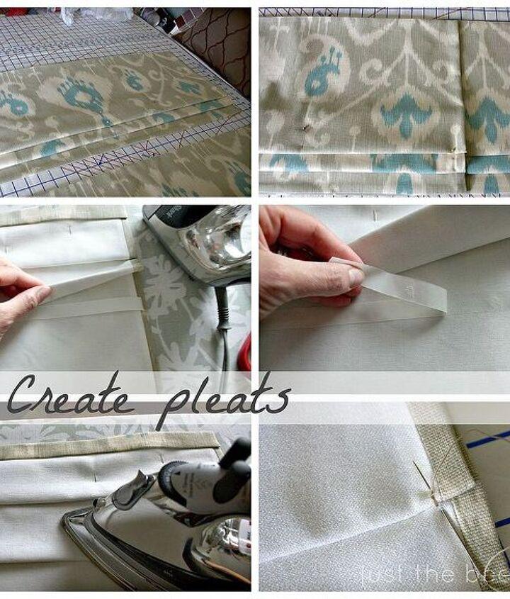 faux roman shade tutorial, crafts, window treatments, windows