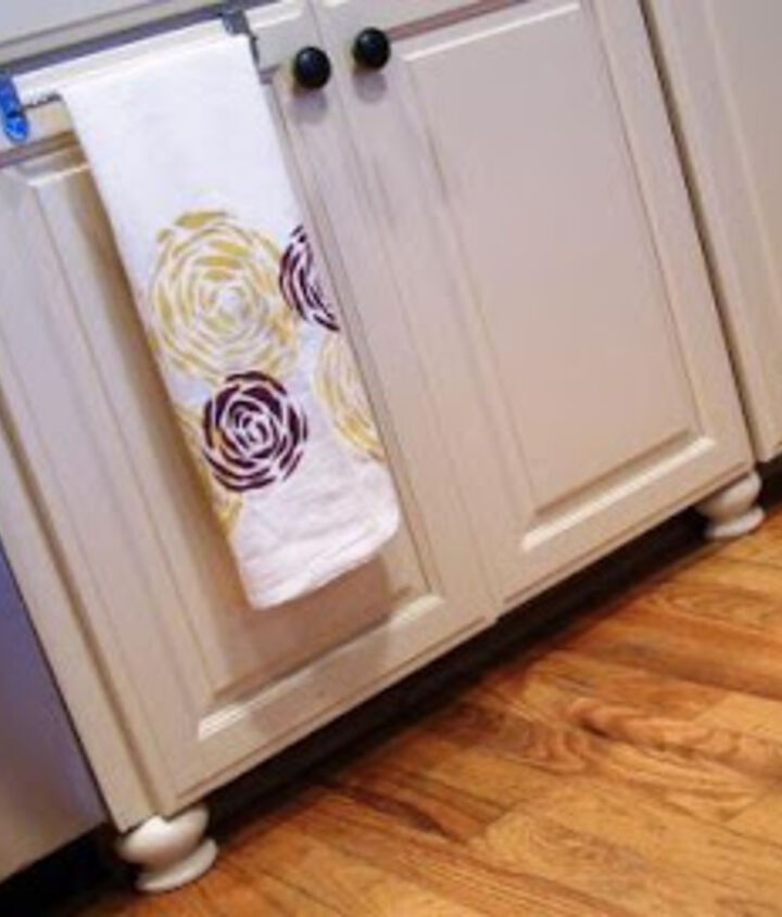The addition of bun feet added a special element and really made the cabinets look like furniture.