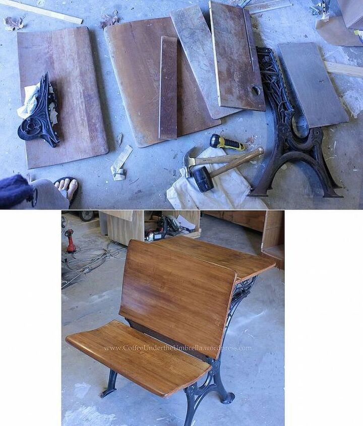 Above is after I took the whole thing apart, below is the refinished product.