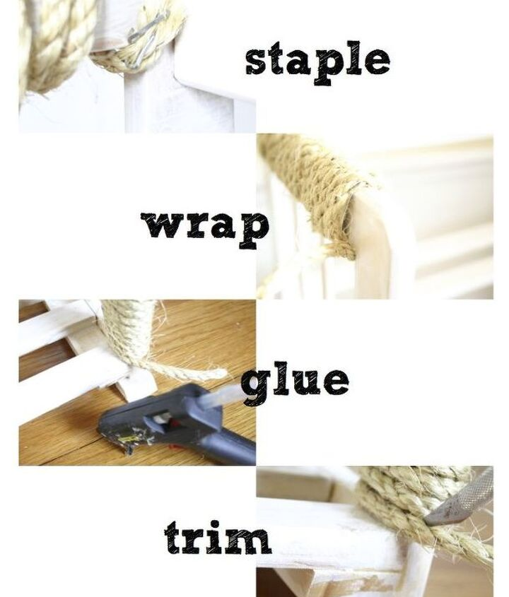 I then stapled to sisal rope for a strong start, wrapped it, glued the end and then trimmed it off.