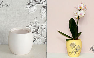 how to transform white plant pots with decoupage, crafts, decoupage