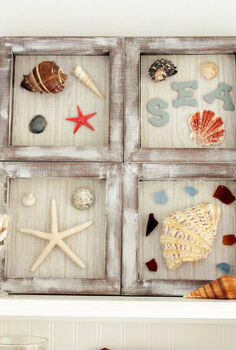 diy nautical shadow box, crafts, decoupage