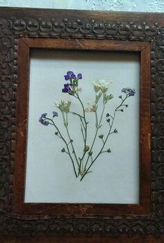 diy tutorial microwave flower pressing, crafts, beautiful framed pressed flower art