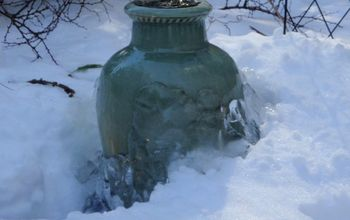 wintertime bubbling urn, home decor, ponds water features, Wintertime bubbling urn by NJ Pondguys