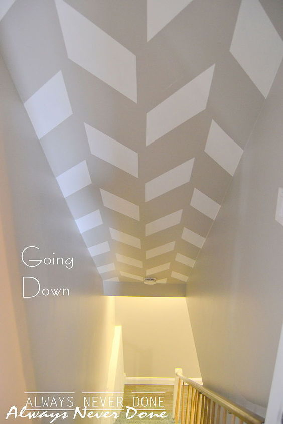 Next time you need to paint your hallway ceiling or wall for that matter, try an unexpected design. It's sure to be a real conversation starter!