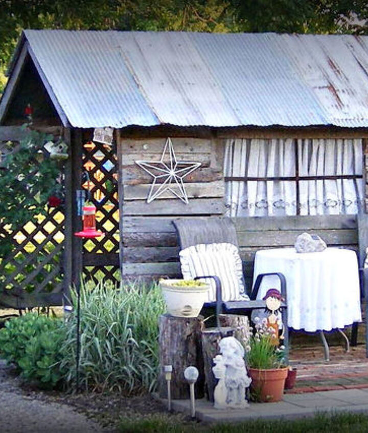 my ole potting shed made from a kids tree house, gardening, outdoor living