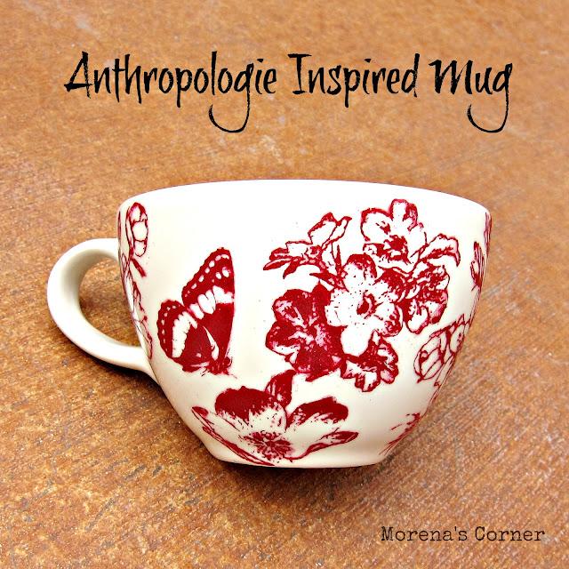 make a painted monogrammed mug inspired by anthropologie, crafts, Painted mug