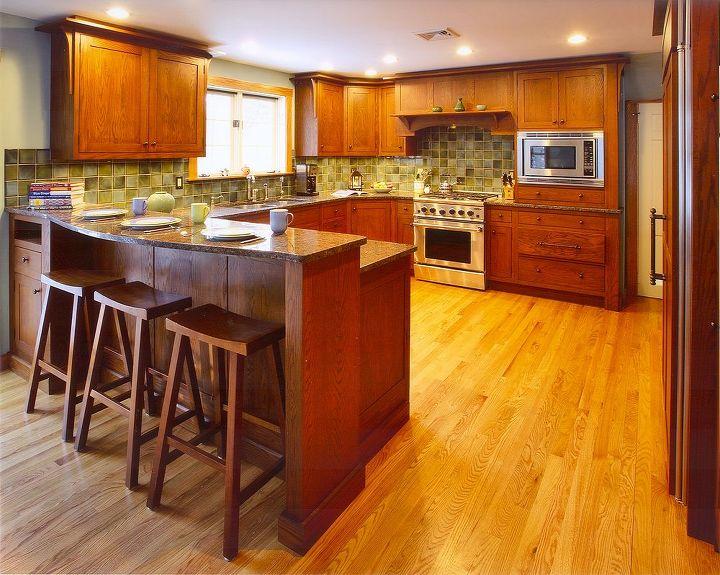 Interior of split-level renovation ~ Kitchen remodeled by Titus Built, LLC