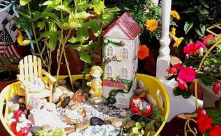 fairy garden in a beverage tub, gardening, outdoor living, repurposing upcycling, Beverage Tub was 2 99 at The Christmas Tree Shop