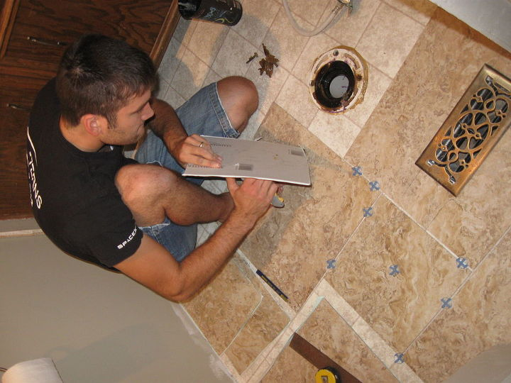 No need for cement board or a tile saw--vinyl tiles are cut easily with a utility knife or heavy duty scissors.