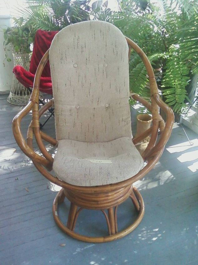 yard sale finds, painted furniture, This rocker was a mere 10 00