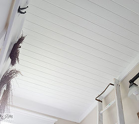 How To Plank Over A Popcorn Ceiling Instantly, Bathroom Ideas, Diy, Home  Decor