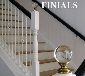 Lovely Diy Staircase Finials, Home Decor, We Purchased Drapery Hardware Finials  From Restoration Hardware After