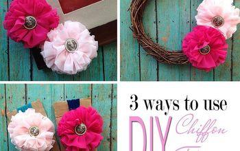 DIY Chiffon Flowers