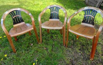 White Rubbermaid Chairs, Set of Four Painted & Given a Custom Look