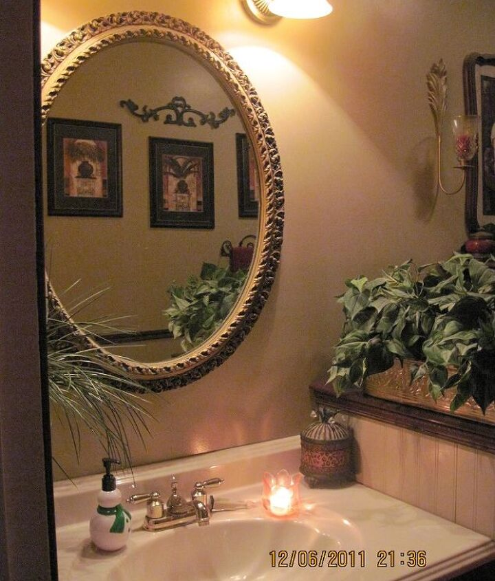 Bath, hubby and I drywalled, painted, new sink, built  cabinet/countertops, new tub, shower surround, new granite ledge, decorative tiles on ceiling,new cherry floor, we did all the work, cost us around $1,000.00 for everything