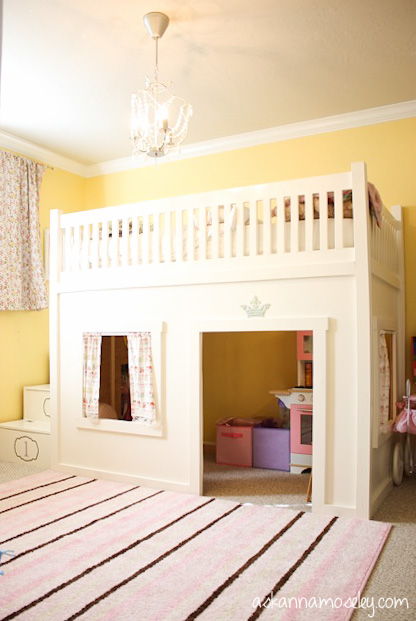 A Princess Bedroom With A Loft Bed Hometalk