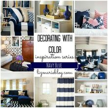 decorating with color navy blue, home decor, Decorating with color inspiration series Navy Blue