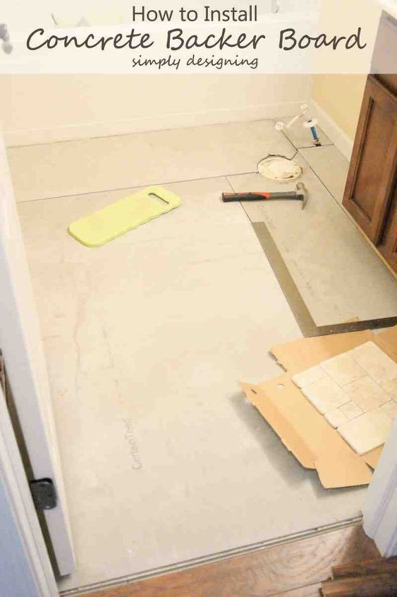 how to install concrete backer board, concrete masonry, diy, flooring, how to, tile flooring, tiling