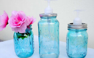 mason jars to spaghetti jars diy soap dispenser tutorial, crafts, mason jars, repurposing upcycling
