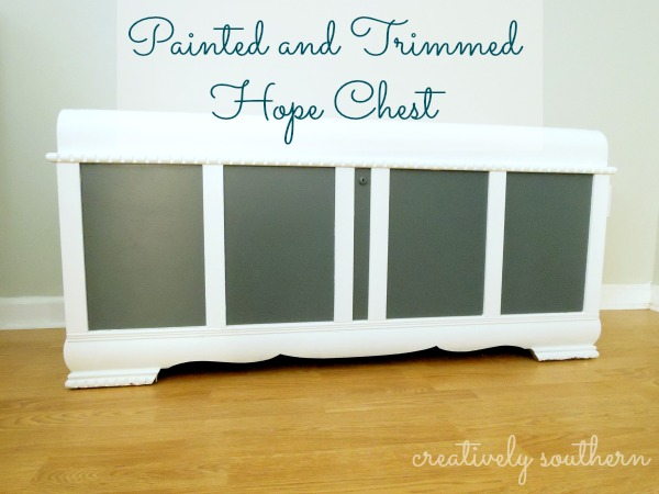 painted hope chest makeover, painted furniture