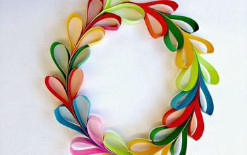 Paper Strip Hearts and Heart Wreaths