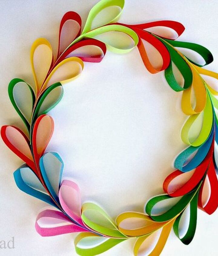 paper strip hearts and heart wreaths, crafts, Create many colors