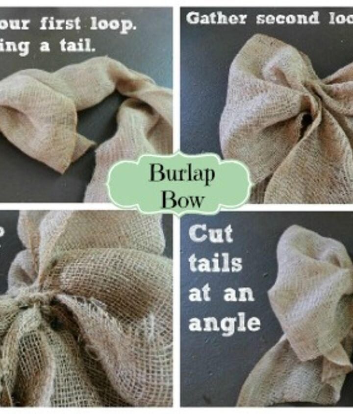 making a burlap bow, crafts