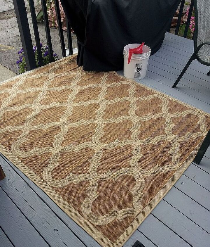 q can you paint an outdoor rug, flooring, outdoor living, painting
