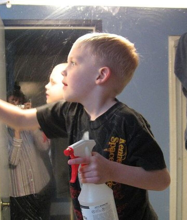 homemade glass cleaner, cleaning tips, He just might get so excited about cleaning that he ll do all the bathroom mirrors