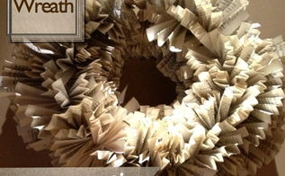 old book wreath, crafts, wreaths, Old Book Wreath