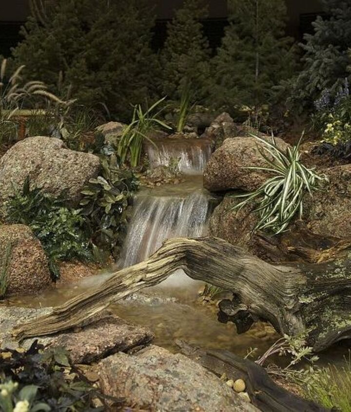 Come sit, relax nest to this pondless waterfall, and let the cares of the world wash away.