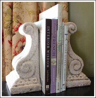 Fun bookends!  Old Time Pottery less than $12!