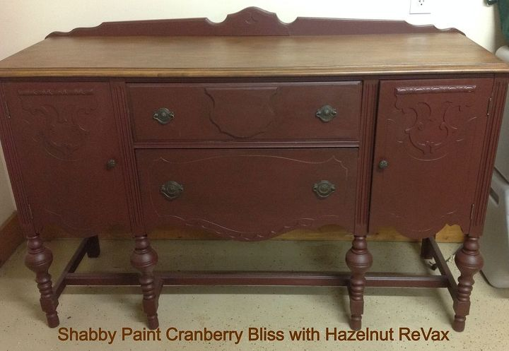 shabby paints vintage buffet, painted furniture