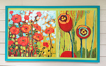 how to frame huge prints inexpensively, diy, how to, painting, wall decor, woodworking projects, The final result