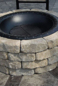 how to build a firepit, outdoor living, patio