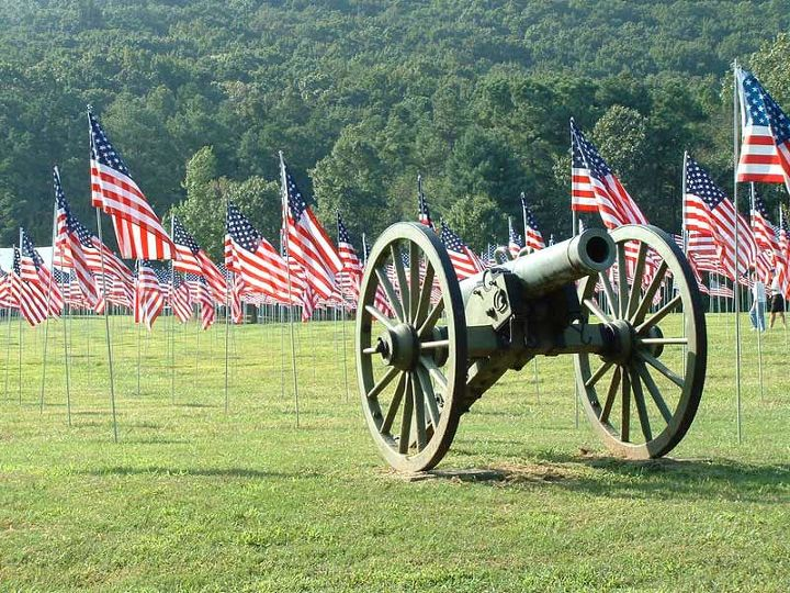 This is our local Kennesaw Mountain on the historic civil war battlefield. This was actually for 9/11, but a beautiful tribute none the less.