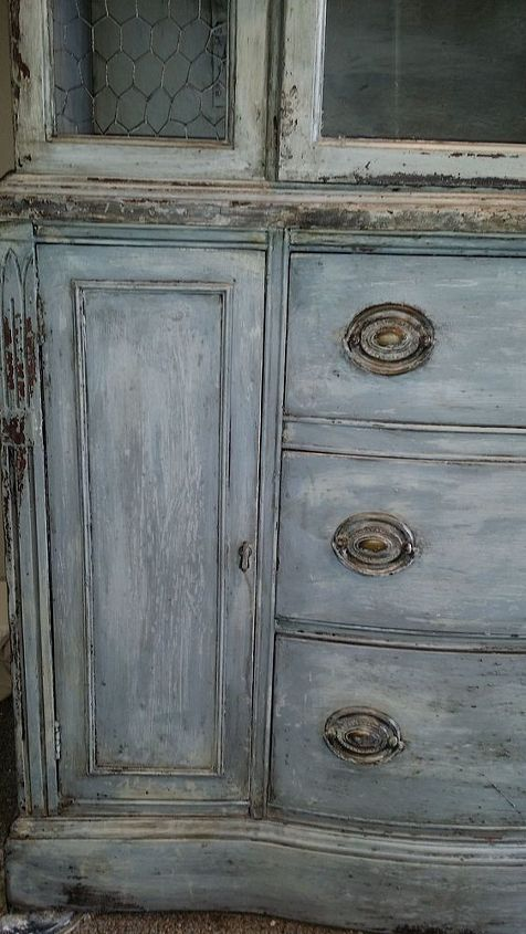 forgotten low country style hutch, painted furniture