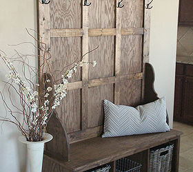 shanty hall tree bench for the entryway foyer painted furniture woodworking projects & Shanty Hall Tree Bench for the Entryway | Hometalk