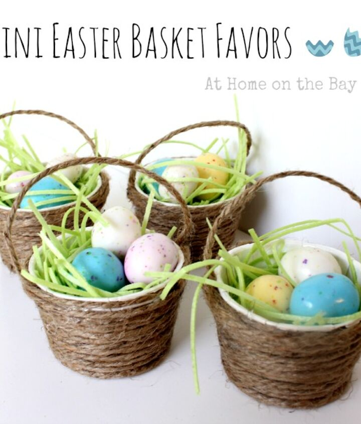 Make mini Easter basket favors for you guests.