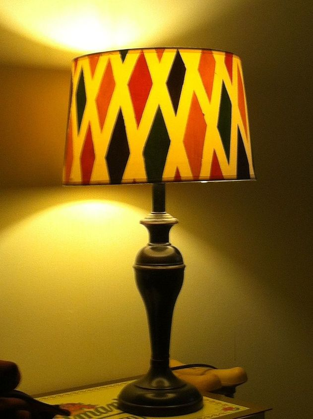 customize plain lampshade, crafts, painting, My custom painted lampshade perfect for bedroom lighting