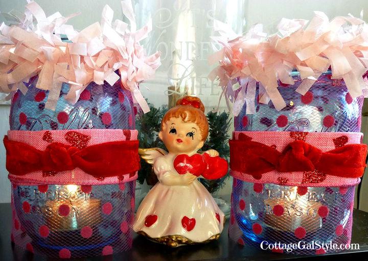 valentine mason jar candles, crafts, mason jars, seasonal holiday decor, valentines day ideas