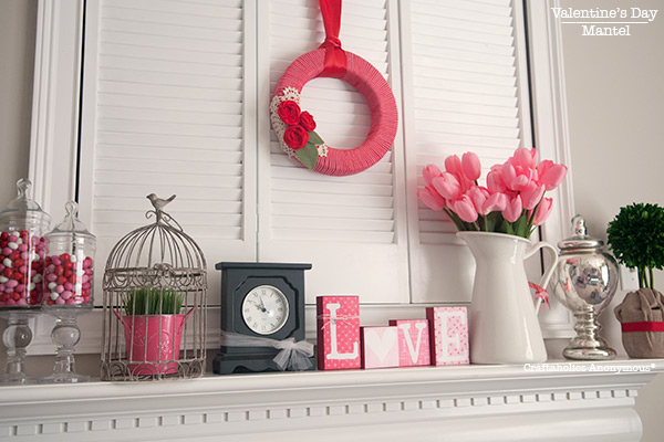 red roses are out pink tulips are in happy valentines day, fireplaces mantels, seasonal holiday d cor, valentines day ideas, Photo courtesy of craftaholicsanonymous net