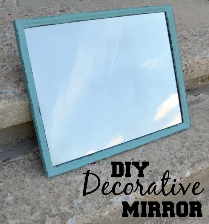 diy decorative mirror, repurposing upcycling