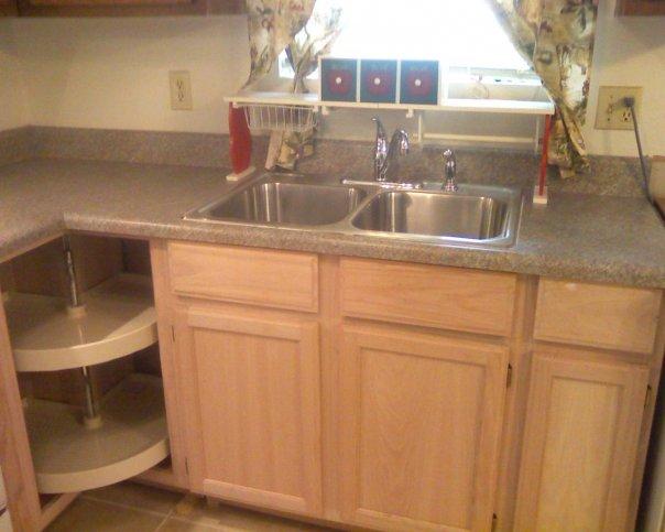 q our duplex remodel in amp out, doors, home decor, kitchen backsplash, kitchen design, tiling, Added a lazy susan LOVE IT