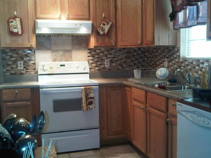 q our duplex remodel in amp out, doors, home decor, kitchen backsplash, kitchen design, tiling, Added tiles on the wall