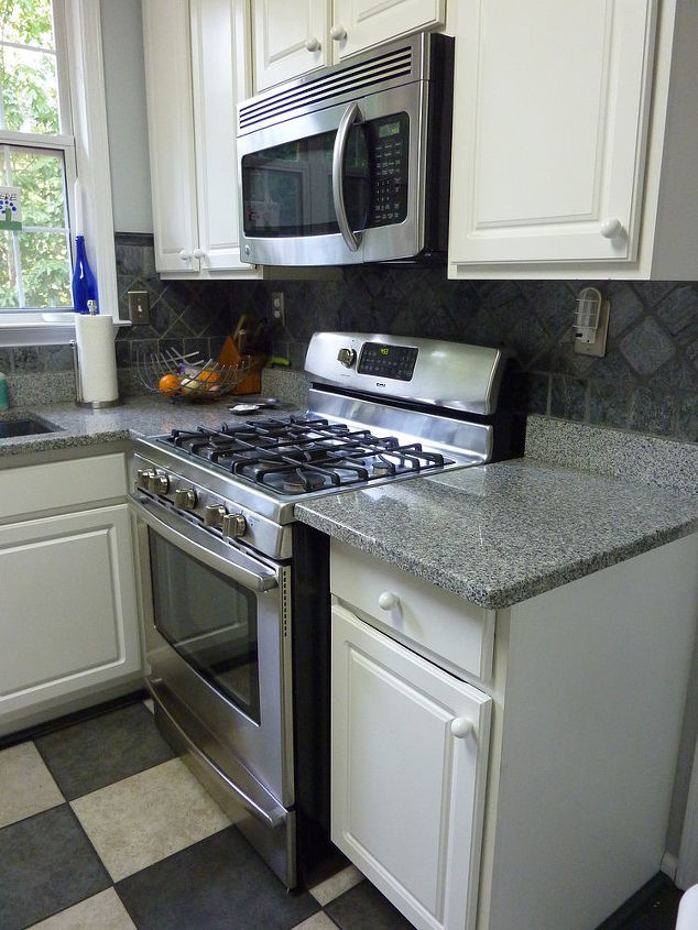 Remodeled Kitchen- wanted fireplace to match since the den and kitchen are in same room.