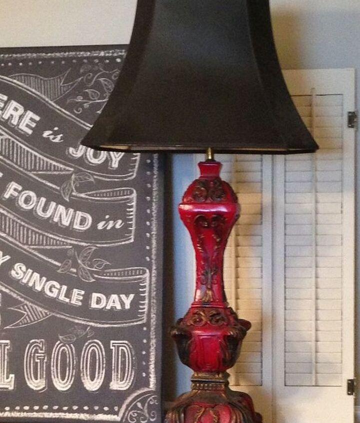 fun amp funky vintage lamp makeover, crafts, lighting